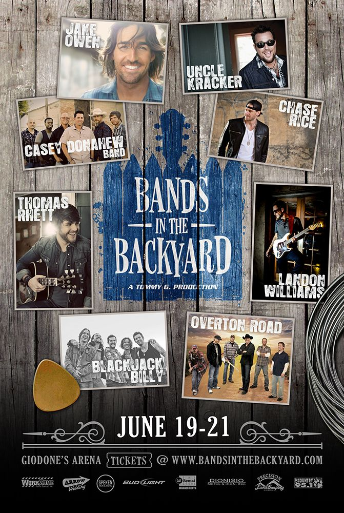 Genial Bands In The Backyard. Poster